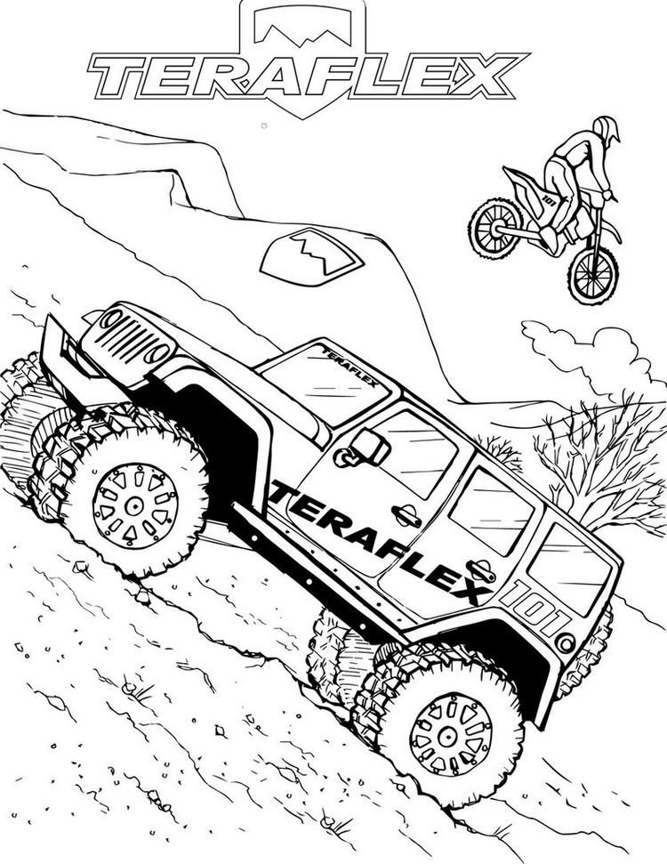 off road truck coloring pages military off road truck printable coloring page pages coloring road off truck