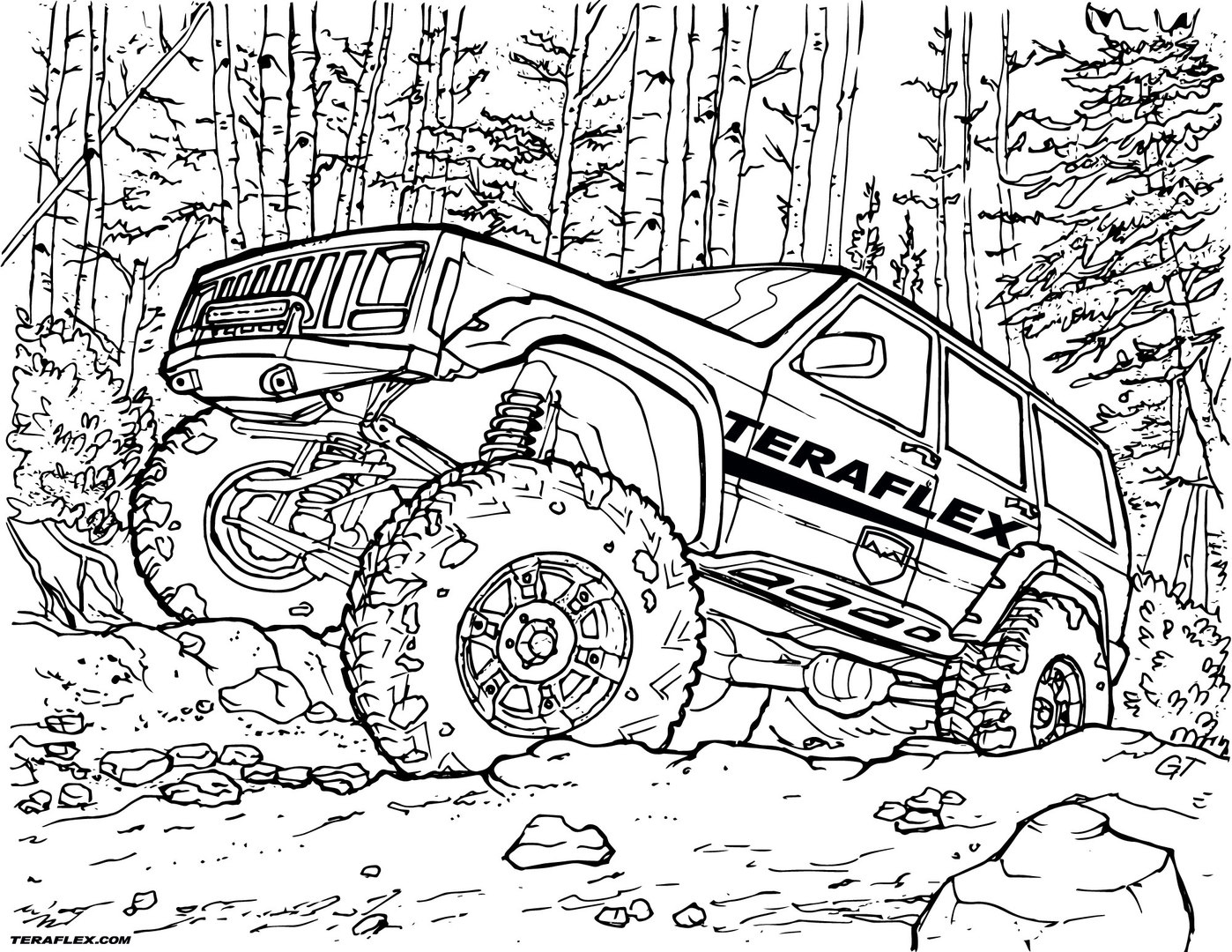 Off road truck coloring pages