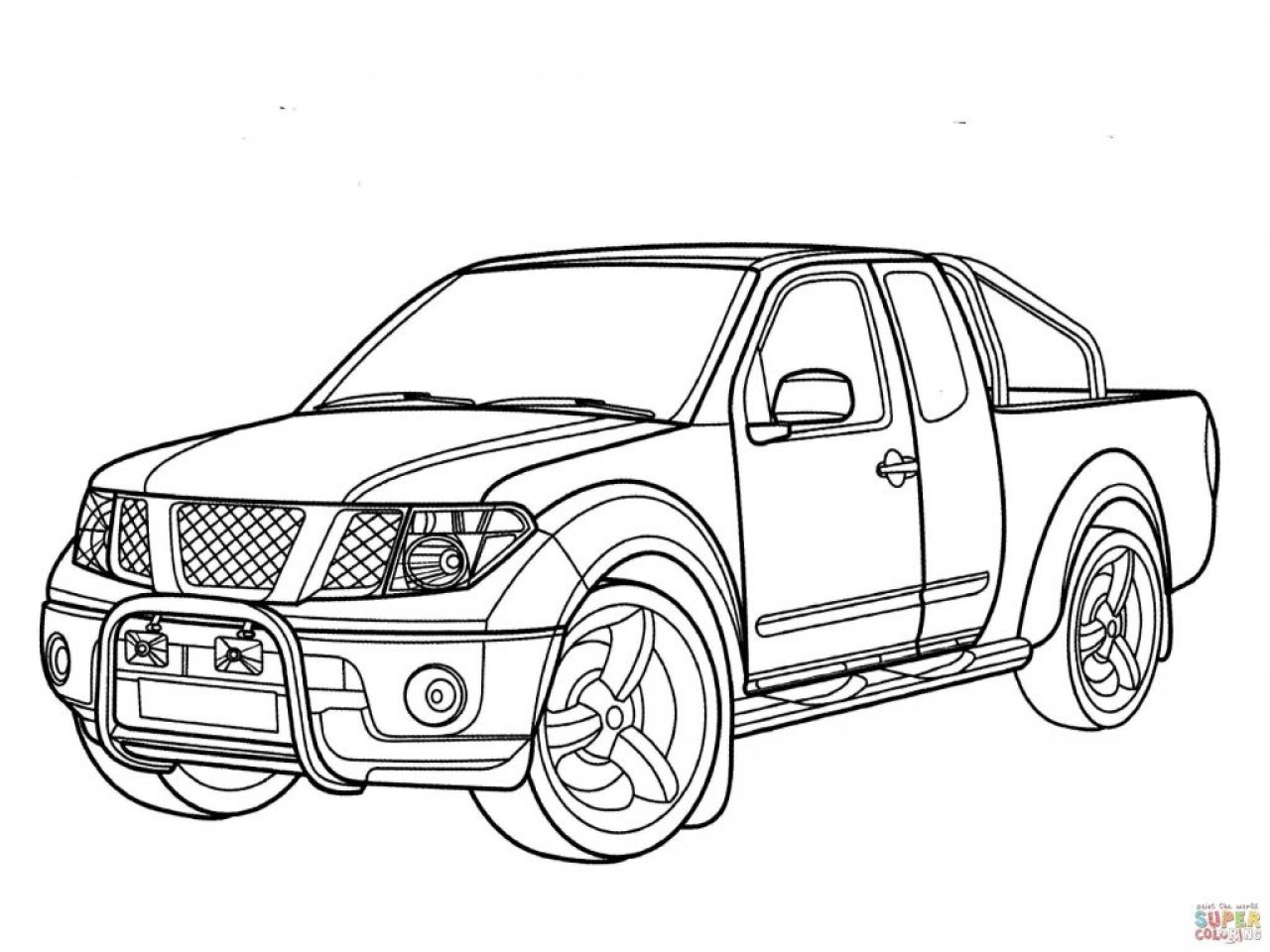 off road truck coloring pages pickup truck drawing at getdrawings free download truck off pages coloring road