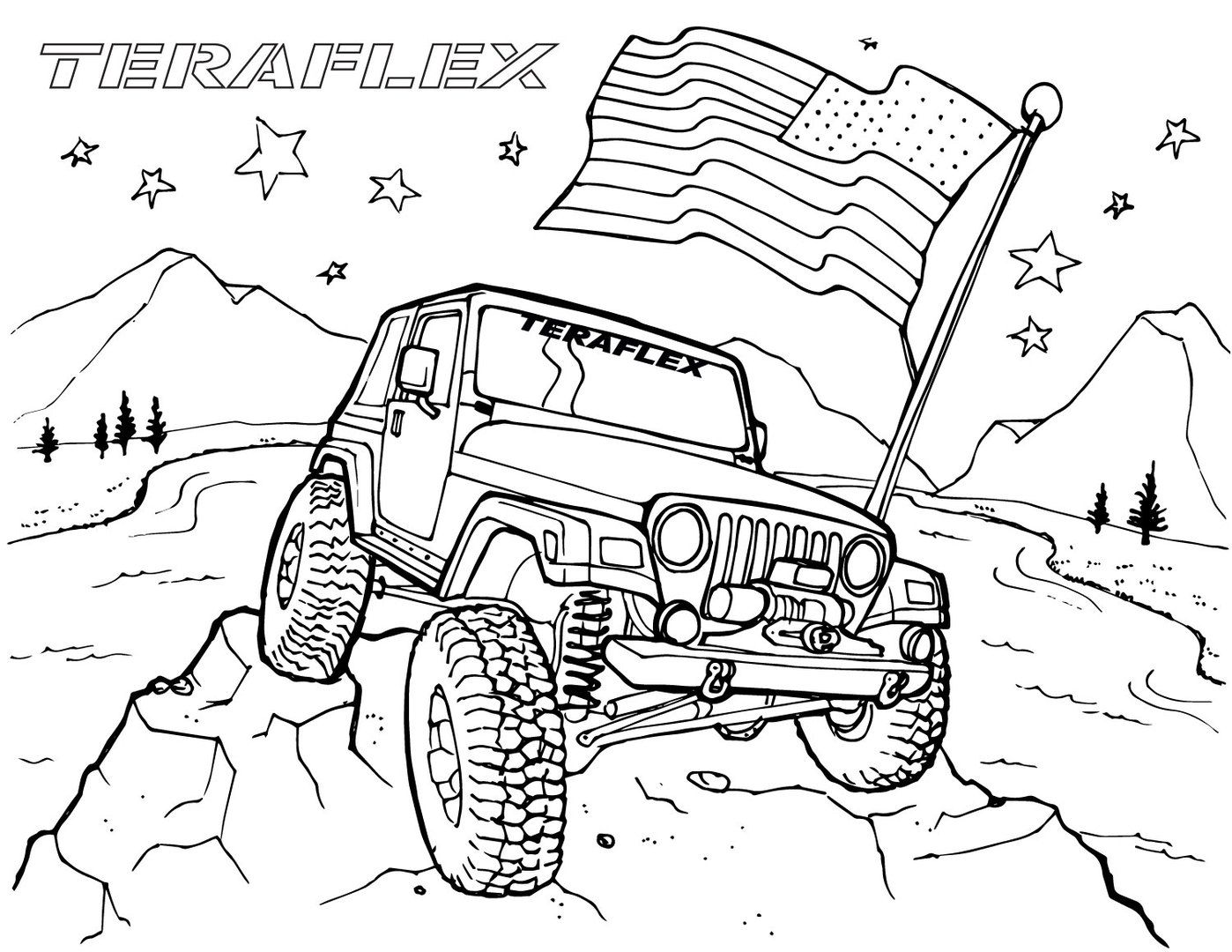off road truck coloring pages pin by john toth on coloring jeep art coloring pages coloring road pages truck off
