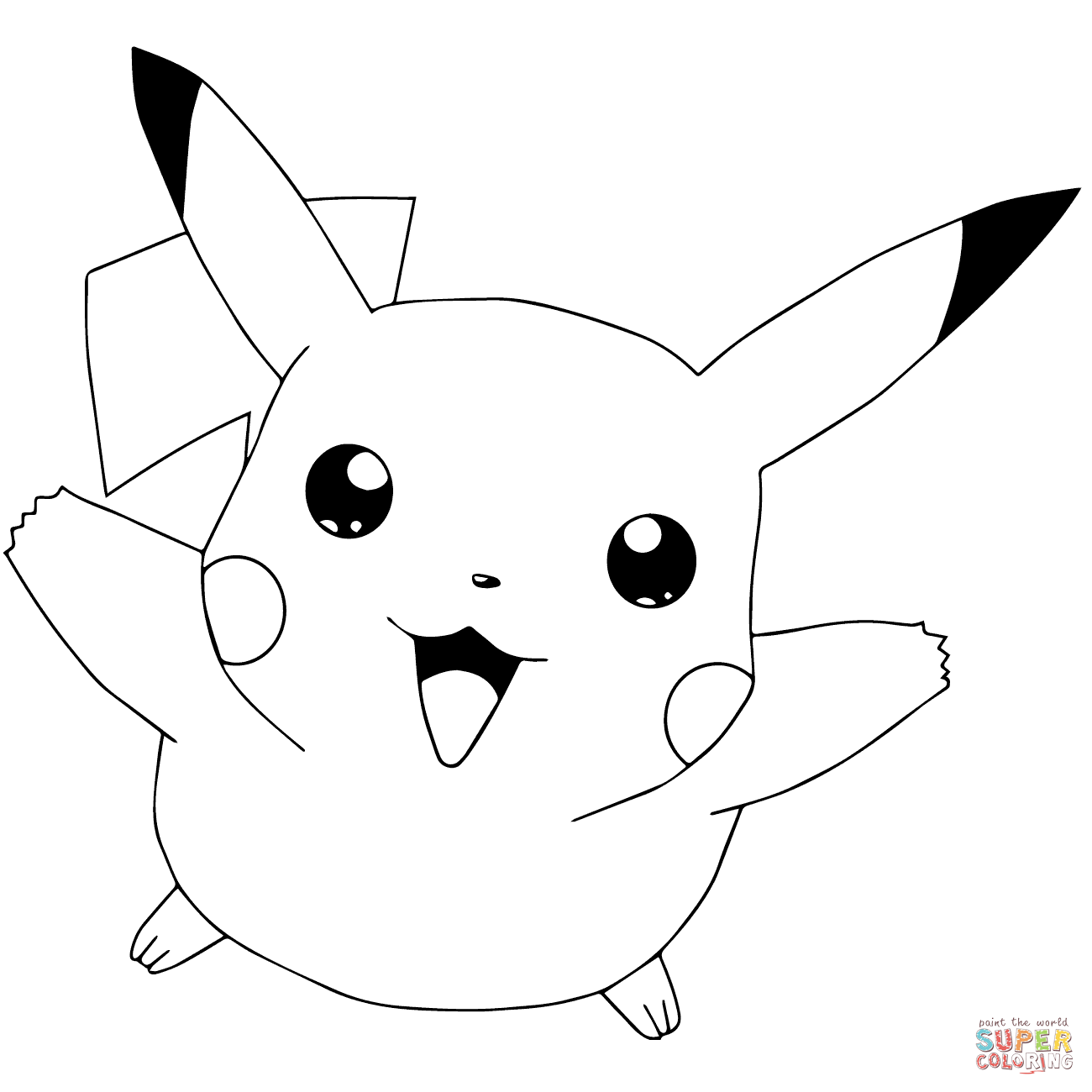 outline of pikachu cute pokemon drawings at paintingvalleycom explore outline pikachu of