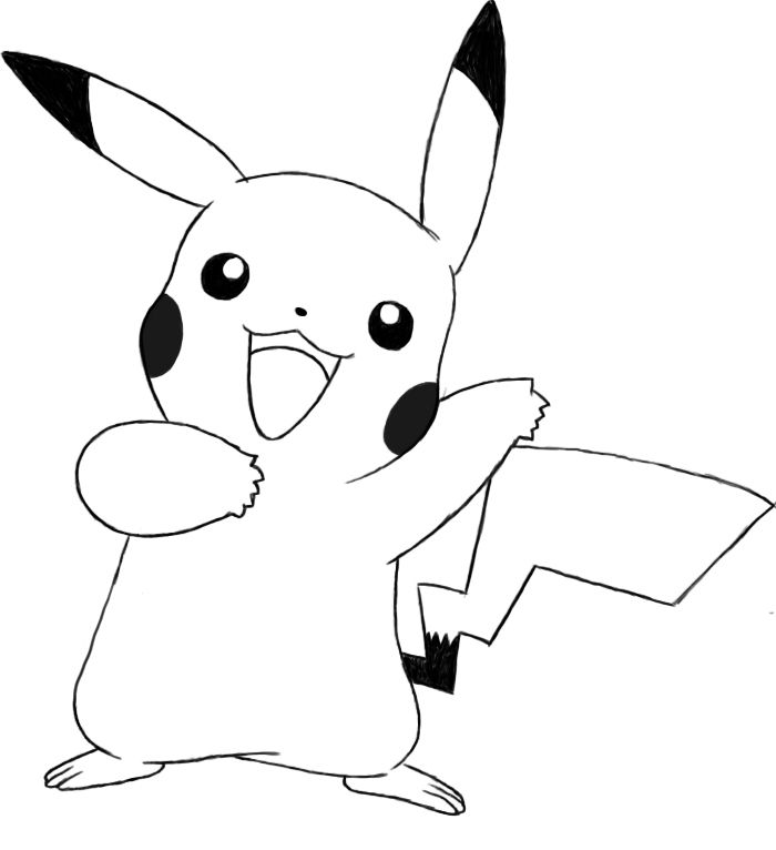 outline of pikachu outline of pikachu of pikachu outline