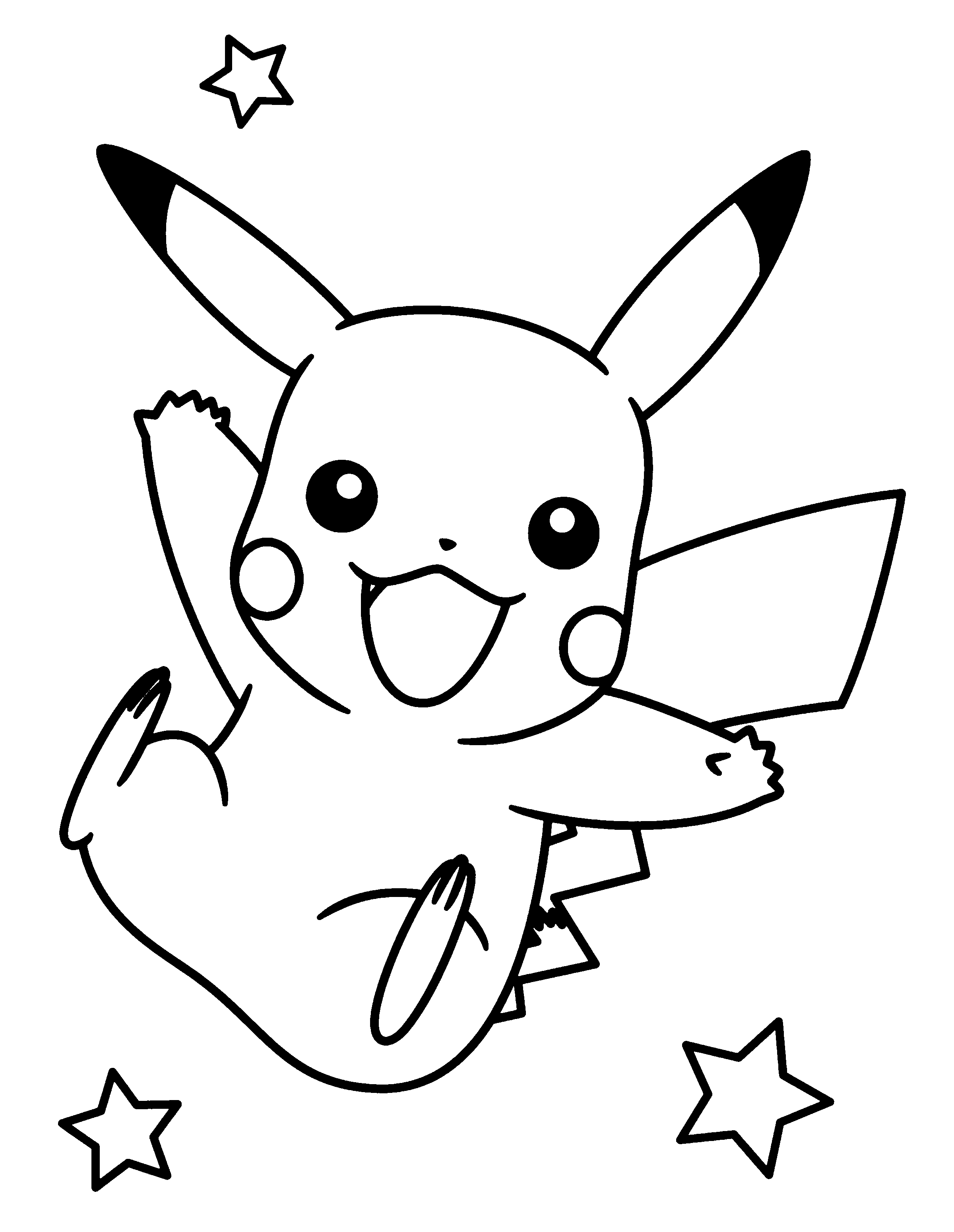 outline of pikachu pikachu clipart free download on webstockreview of pikachu outline