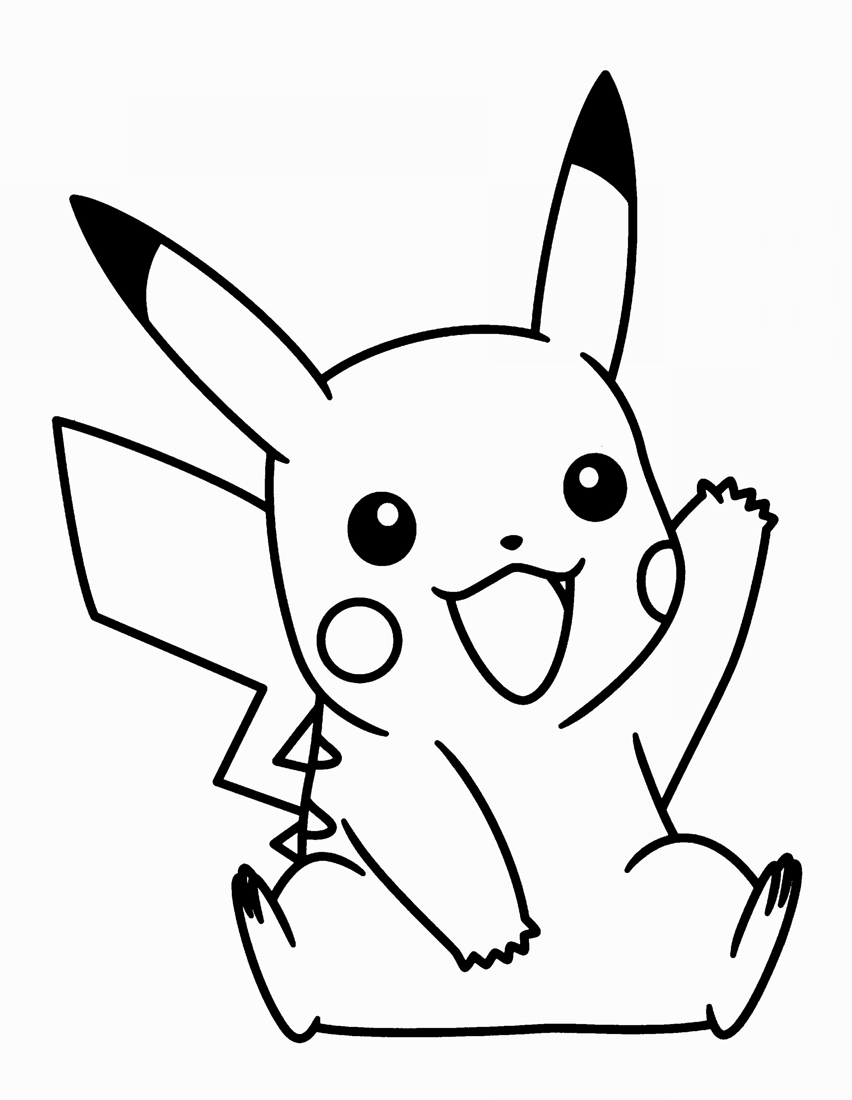 outline of pikachu pikachu clipart outlines pikachu outlines transparent pikachu of outline