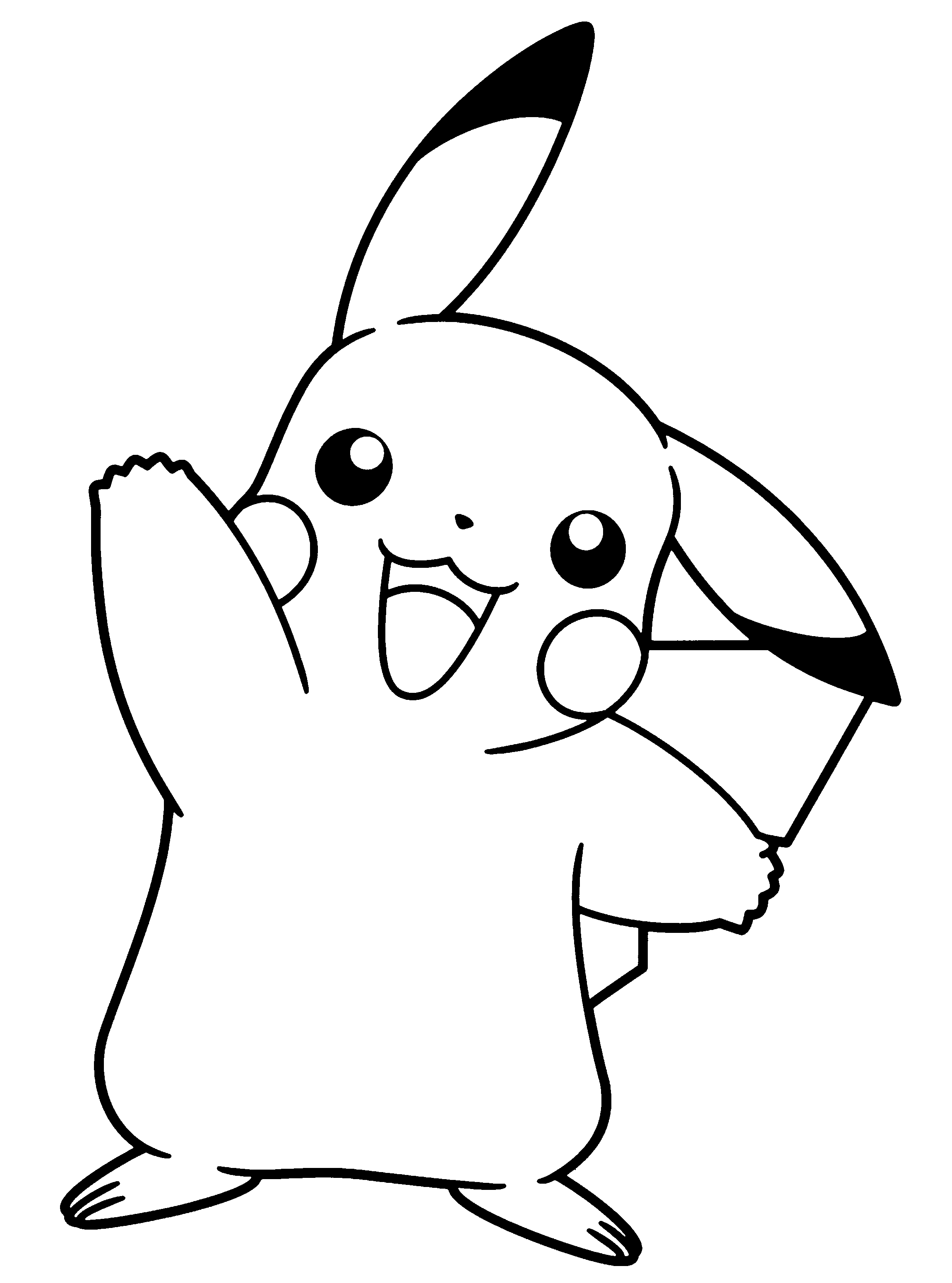 outline of pikachu pikachu from pokémon go coloring page free printable of outline pikachu