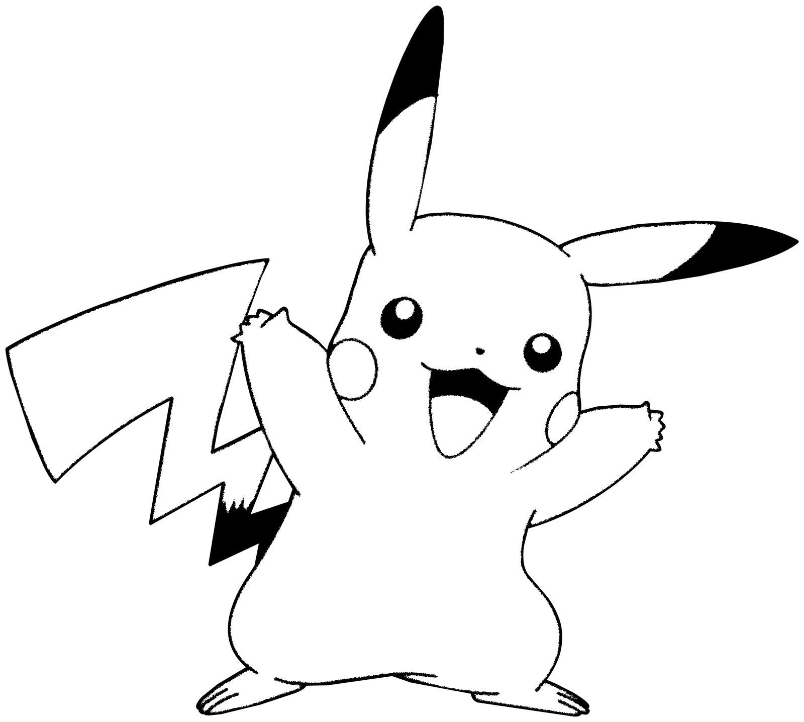 Outline of pikachu