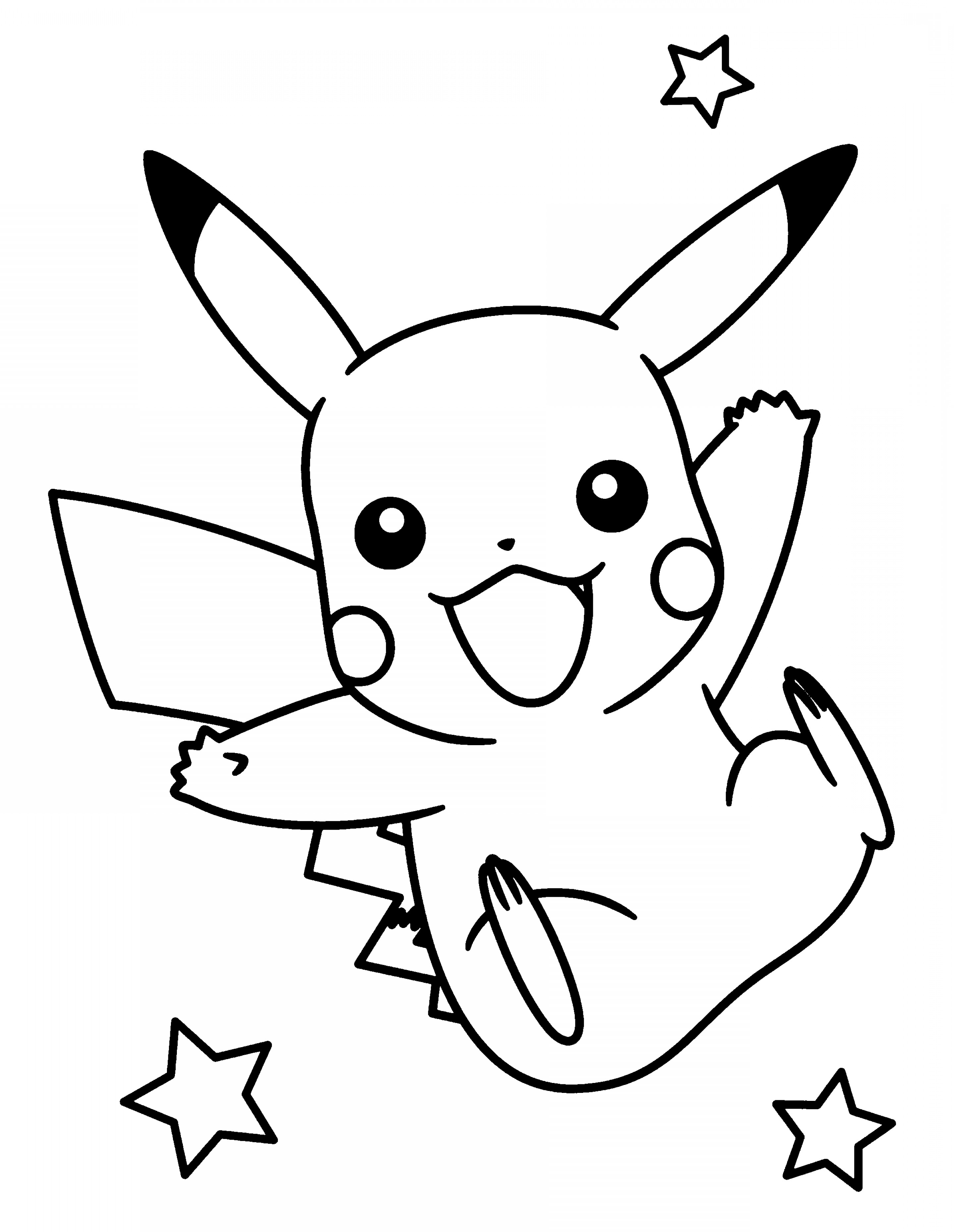 outline of pikachu piplup coloring page coloring home outline of pikachu