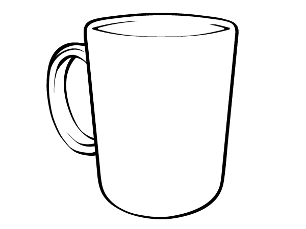 outline picture of cup coffee mug outline clipart clip art library picture outline of cup