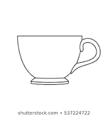 outline picture of cup image result for teacup outlines tea cups outline outline cup picture of