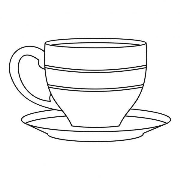 Outline picture of cup