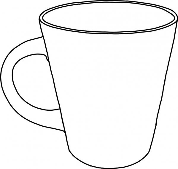 outline picture of cup outline sketch of cup stock vector beatwalk 63962985 outline of cup picture