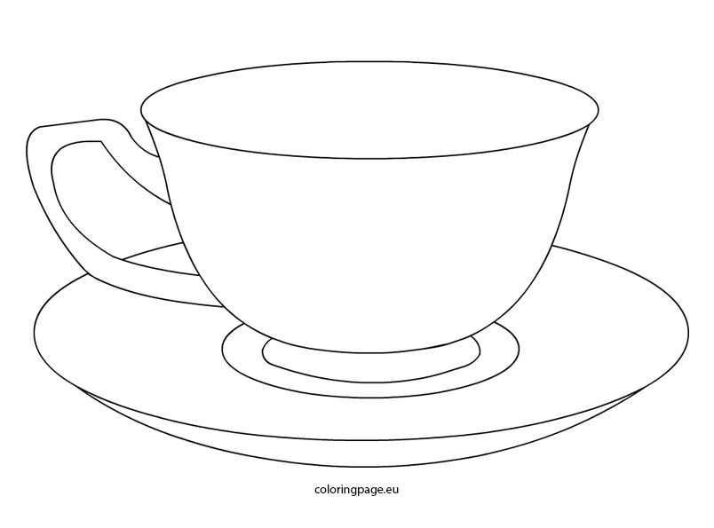 outline picture of cup tea cup coloring pages printable tea cup drawing paper picture cup outline of
