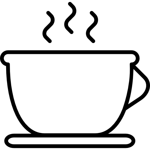 outline picture of cup tea hot cup outline free food icons cup of picture outline