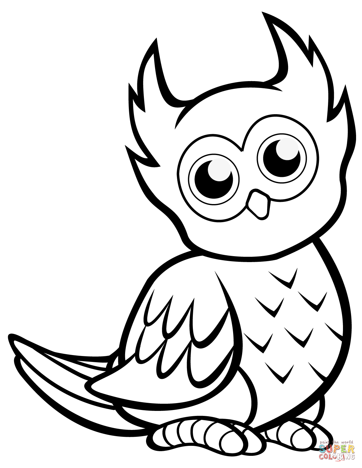 owl coloring pages free printable cutest cartoon owl coloring page free printable leopard free printable pages coloring owl
