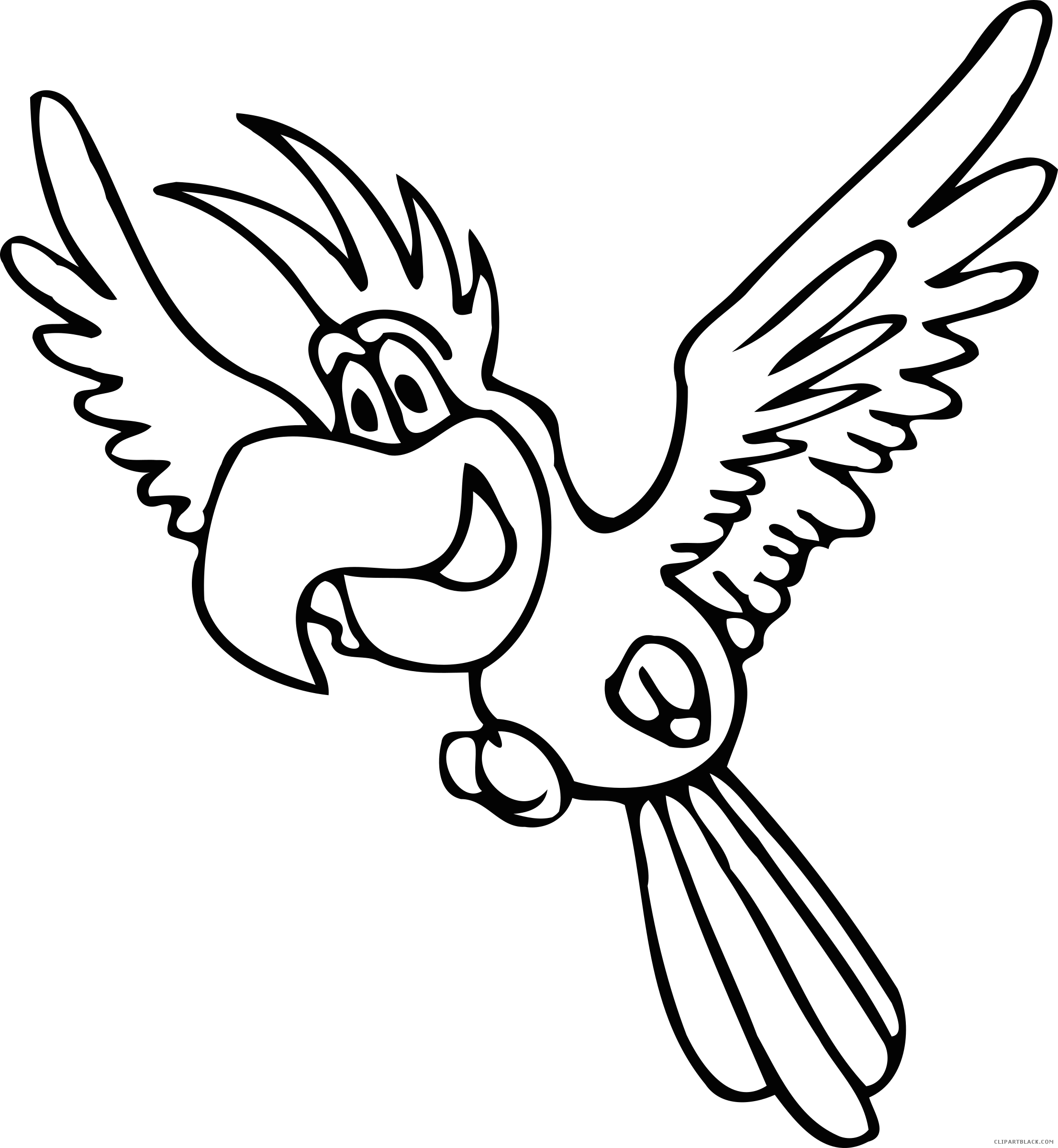 parrot outline parrot drawing outline at getdrawings free download outline parrot 1 1
