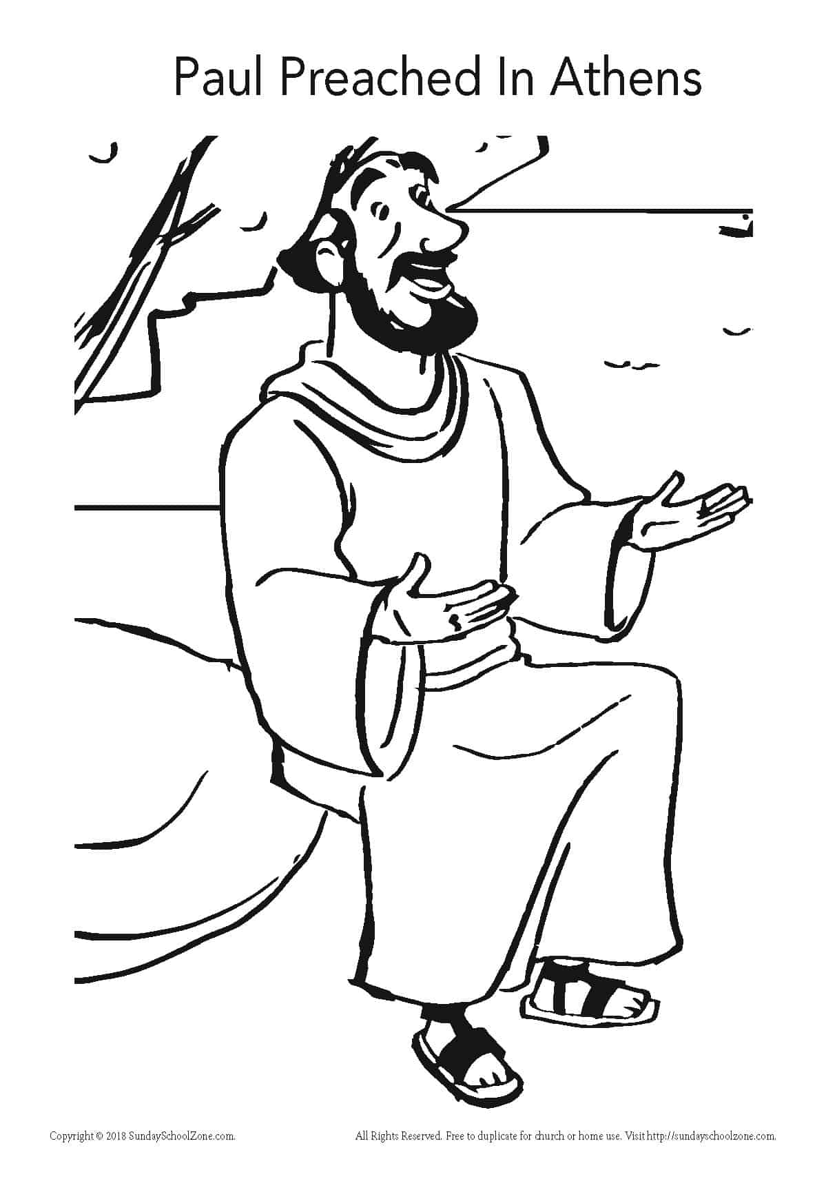paul coloring pages apostle paul coloring page 04 wecoloring coloring paul pages