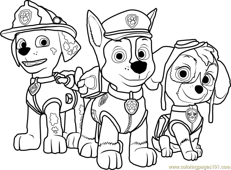 paw patrol characters paw patrol characters coloring pages patrol paw characters