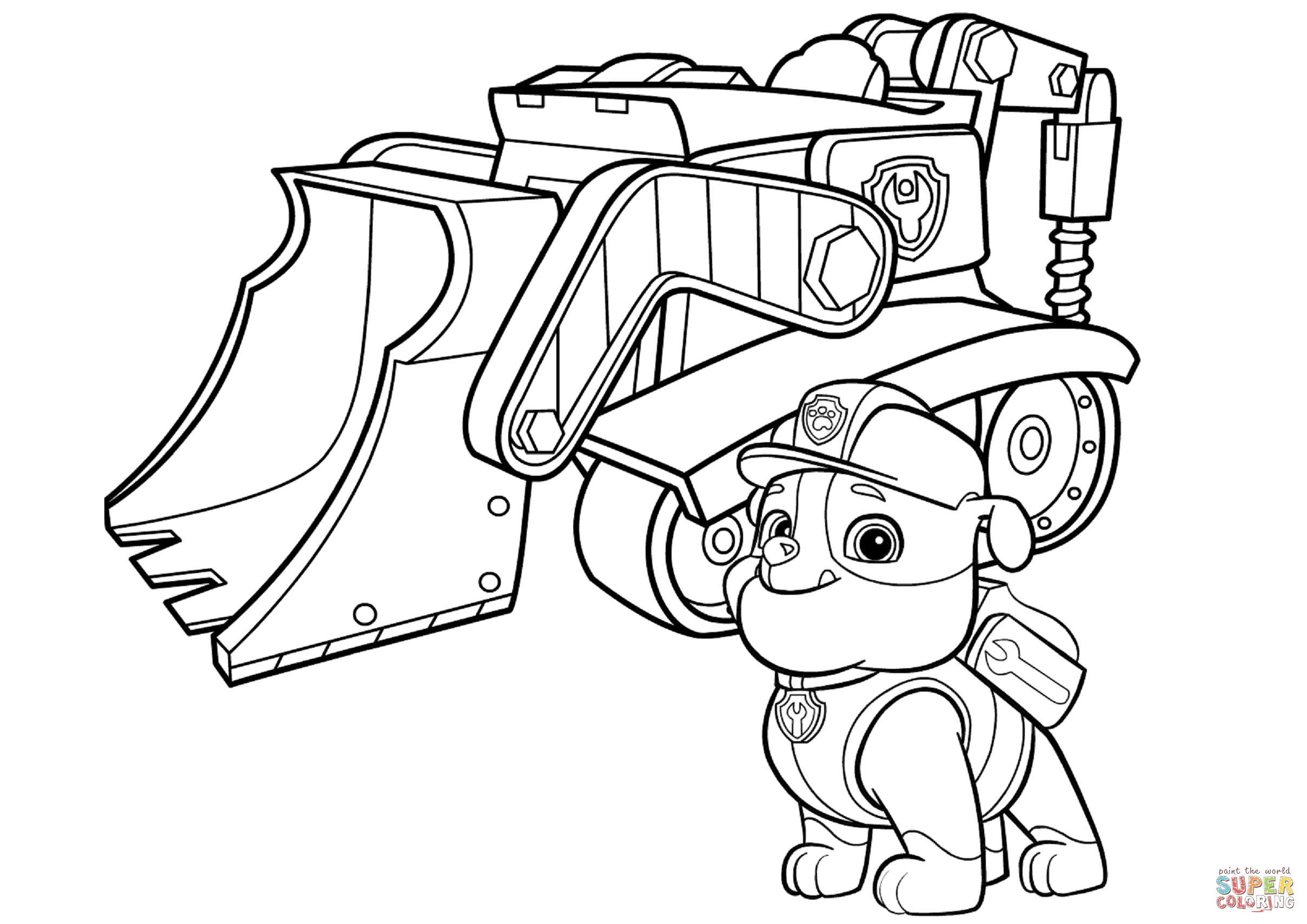 paw patrol coloring outline chase paw patrol coloring lesson kids coloring page patrol coloring outline paw