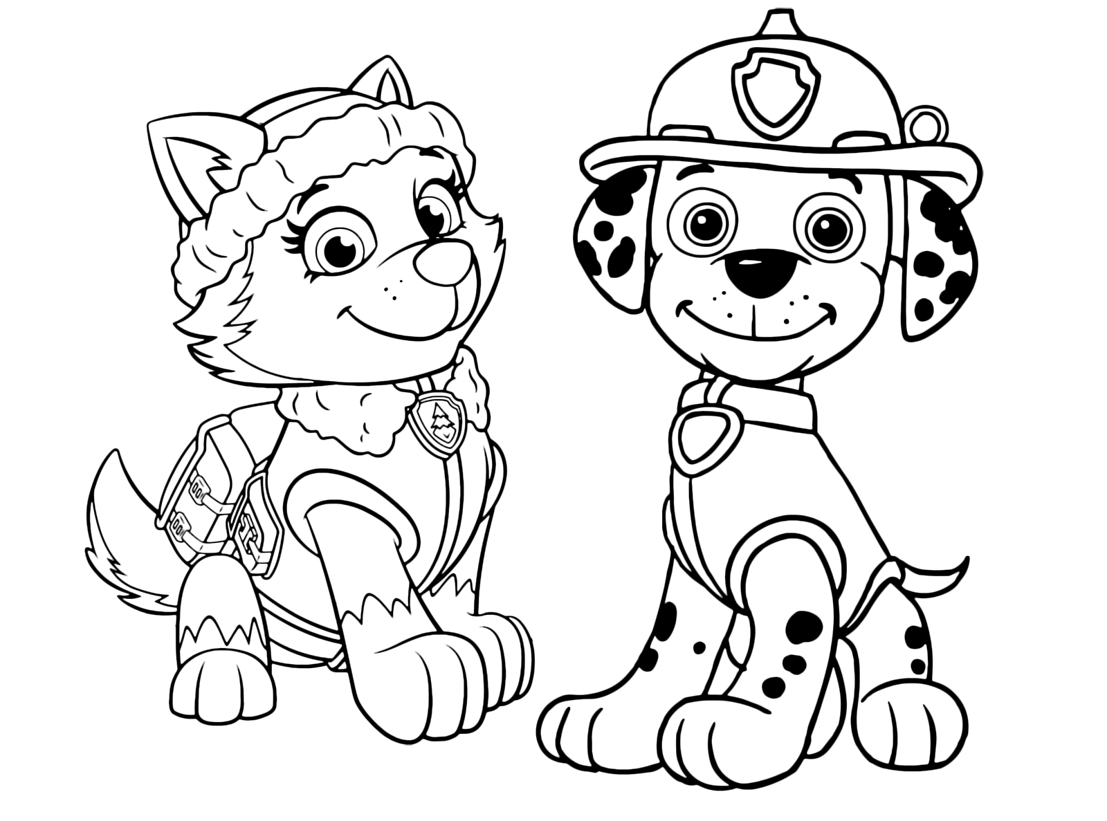 paw patrol coloring outline everest paw patrol coloring lesson kids coloring page coloring paw patrol outline