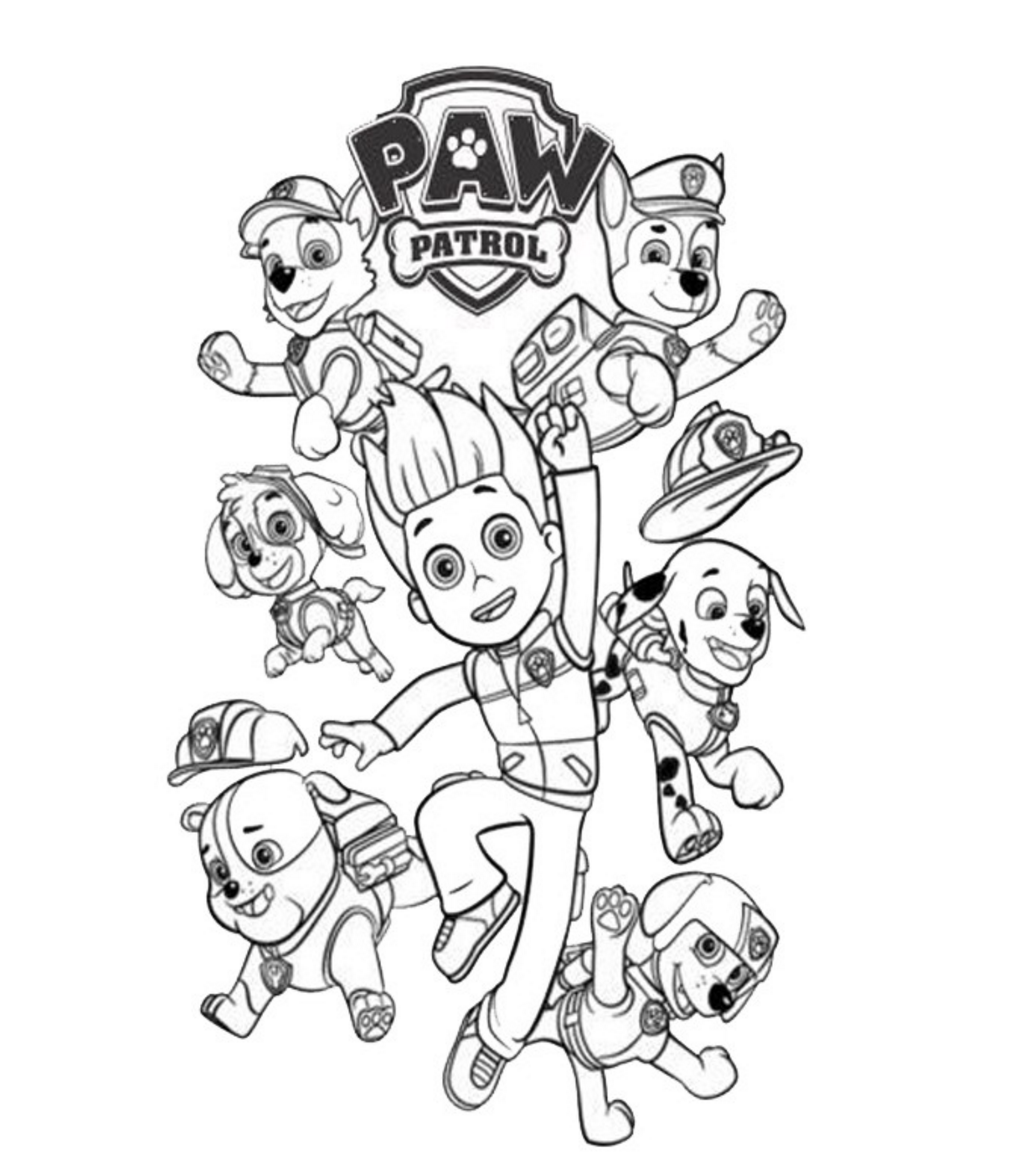 paw patrol coloring outline paw patrol coloring pages best coloring pages for kids coloring patrol paw outline