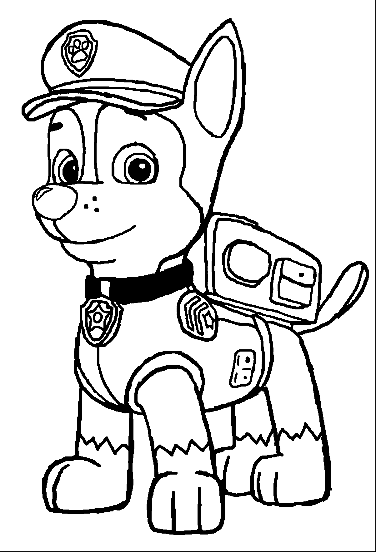 paw patrol coloring outline paw patrol coloring pages best coloring pages for kids patrol outline coloring paw