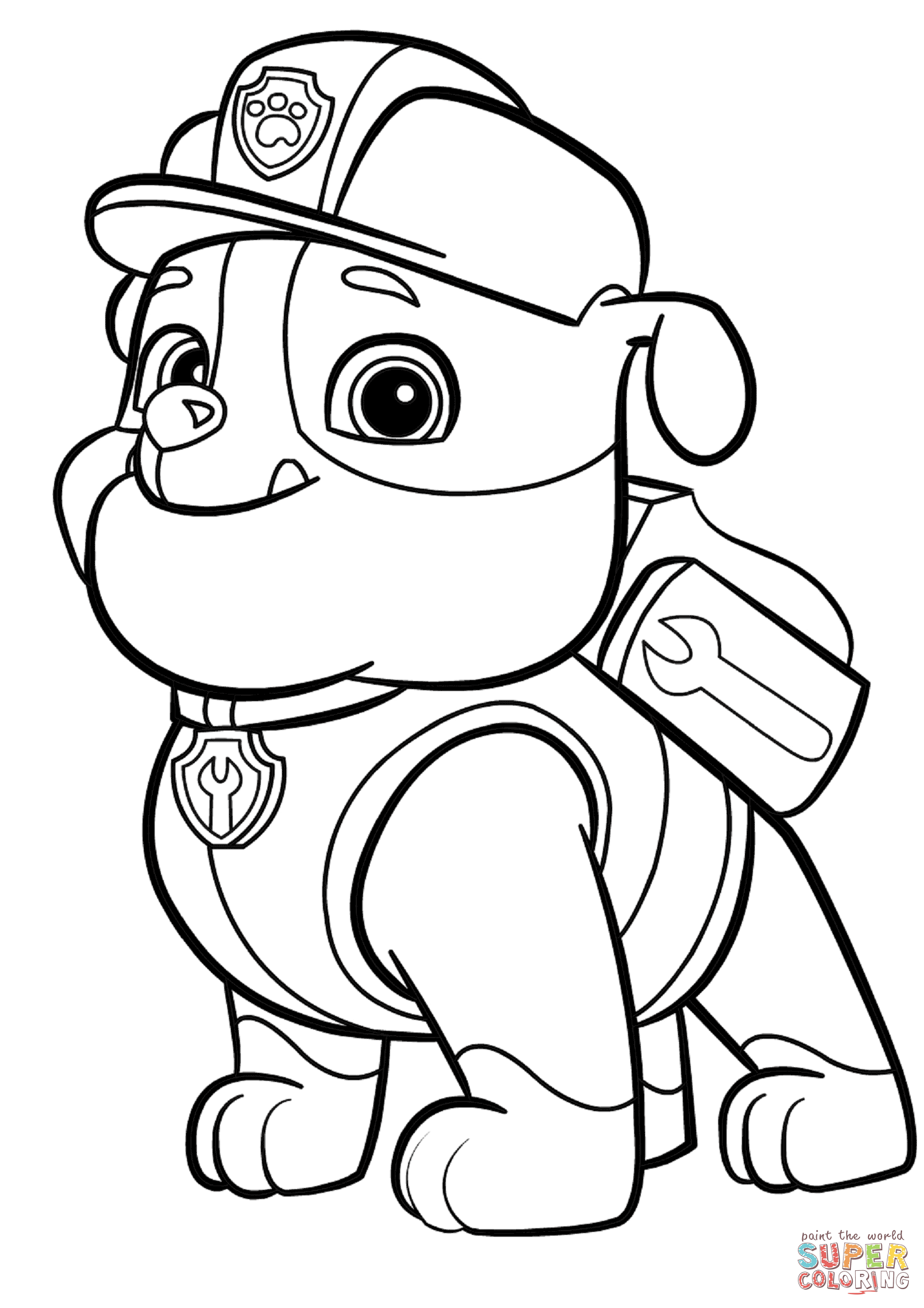 paw patrol coloring outline paw patrol coloring pages downoadable k5 worksheets patrol paw outline coloring
