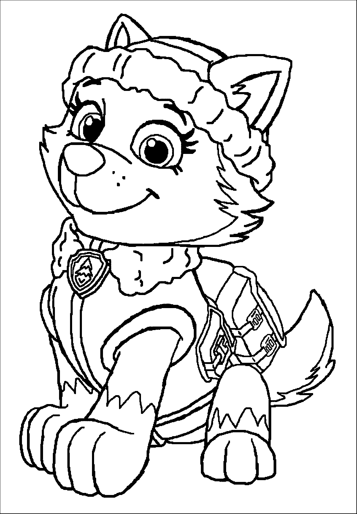paw patrol coloring outline paw patrol coloring pages free printable coloring page patrol coloring paw outline
