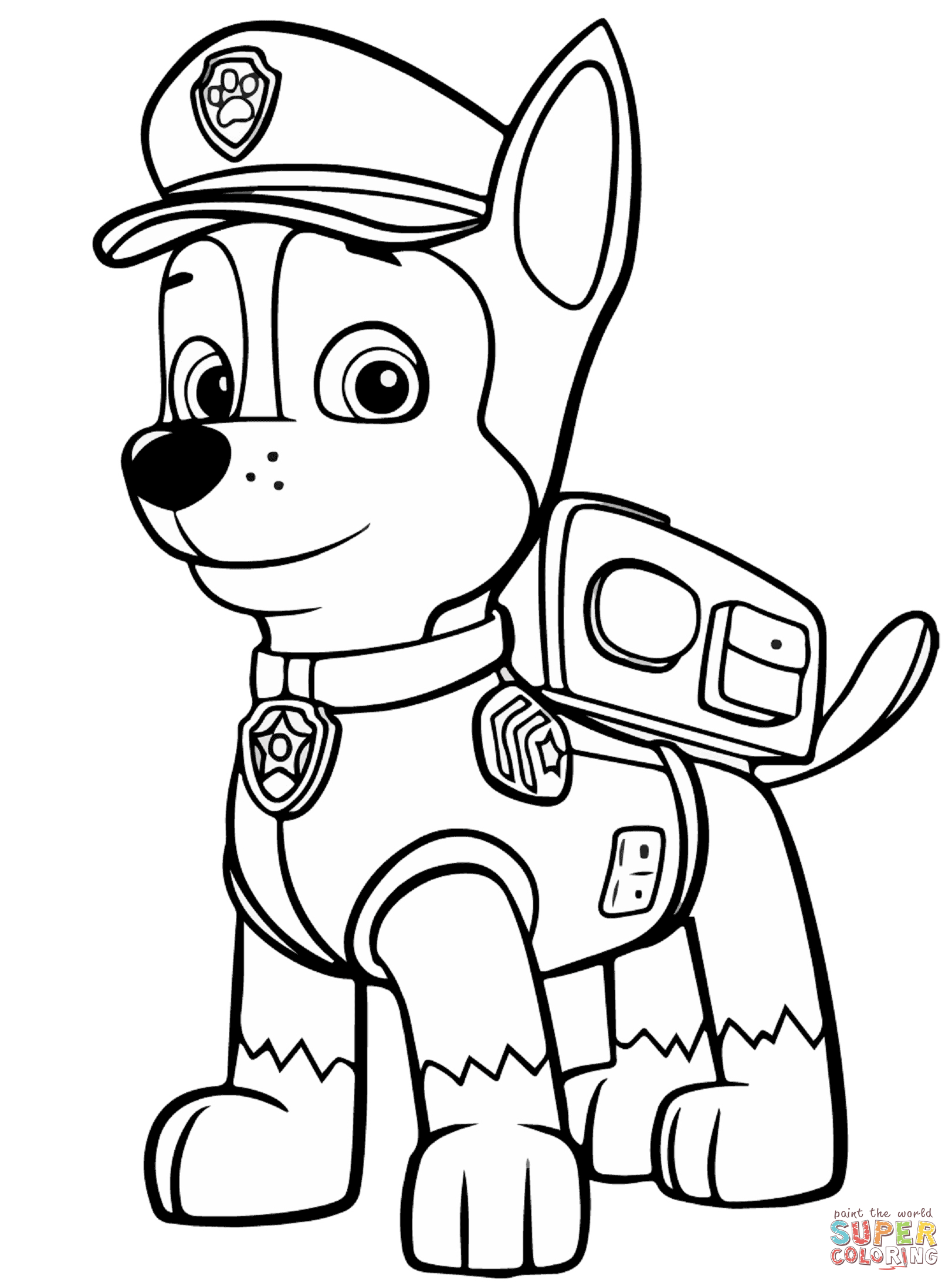 Paw patrol coloring outline