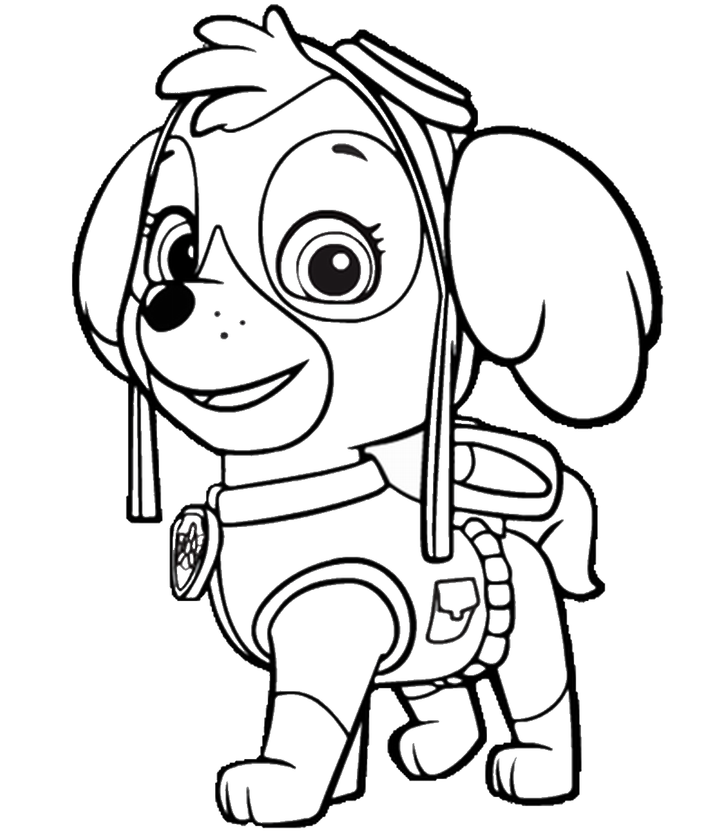 paw patrol coloring outline paw patrol coloring printable sketch coloring page coloring patrol paw outline