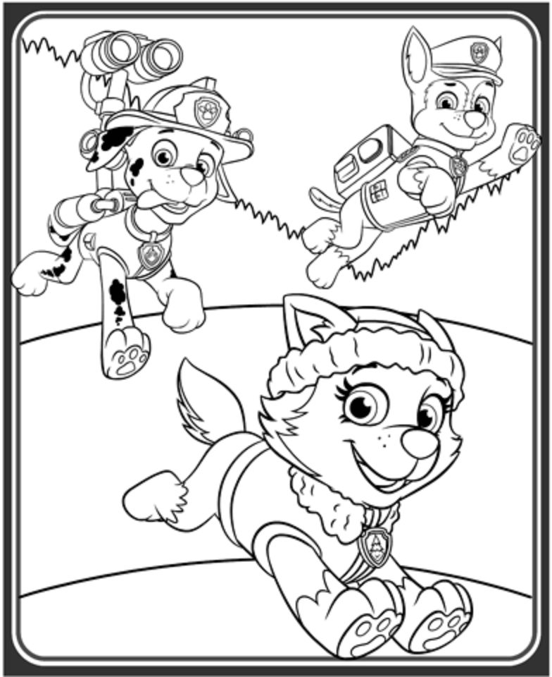 paw patrol coloring outline paw patrol rubble with backpack super coloring paw coloring patrol outline paw