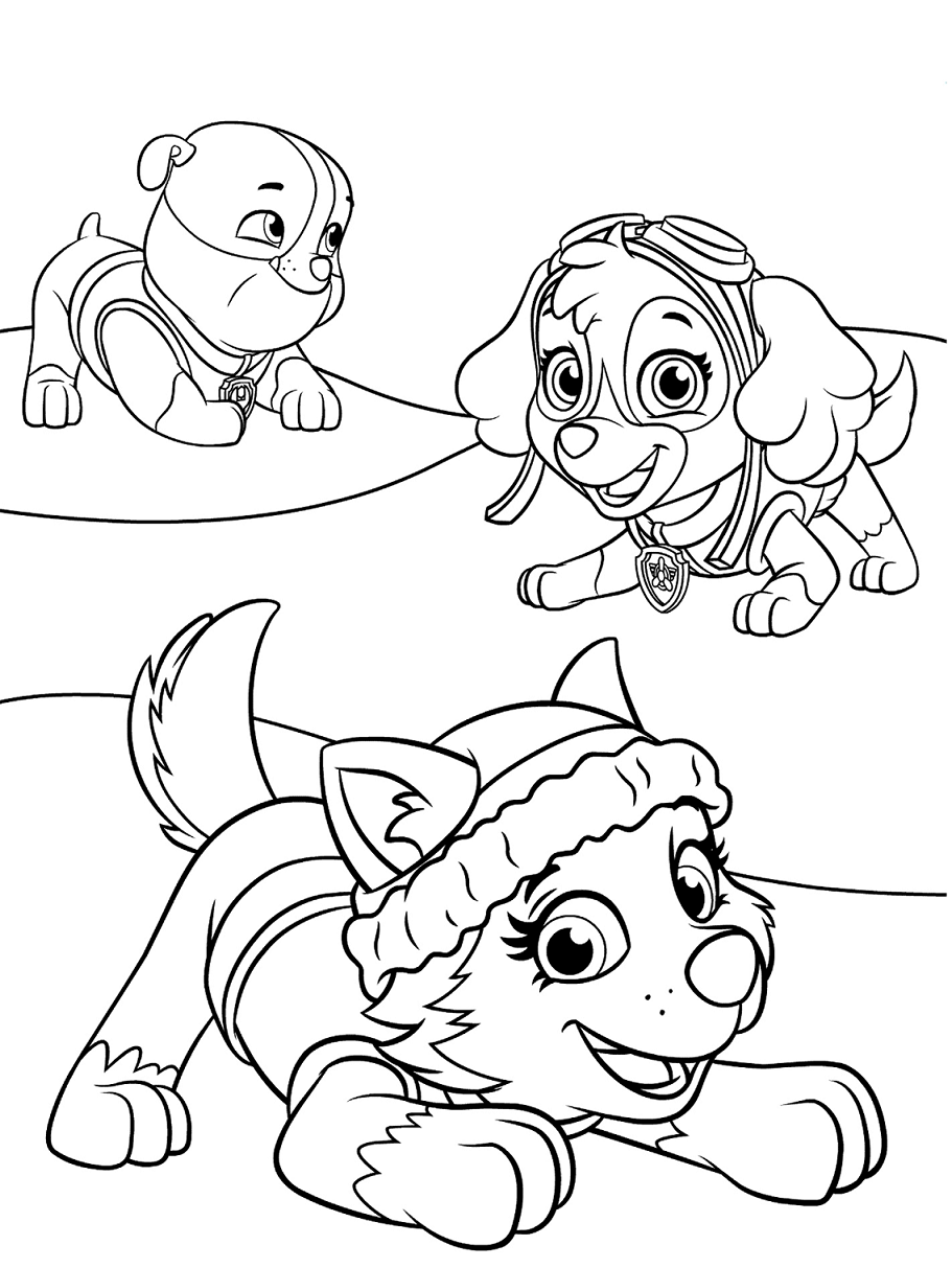 paw patrol coloring outline rubble paw patrol coloring lesson kids coloring page outline paw patrol coloring