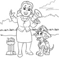 paw patrol lookout coloring page paw patrol coloring sheet first coloring for our children patrol paw lookout coloring page