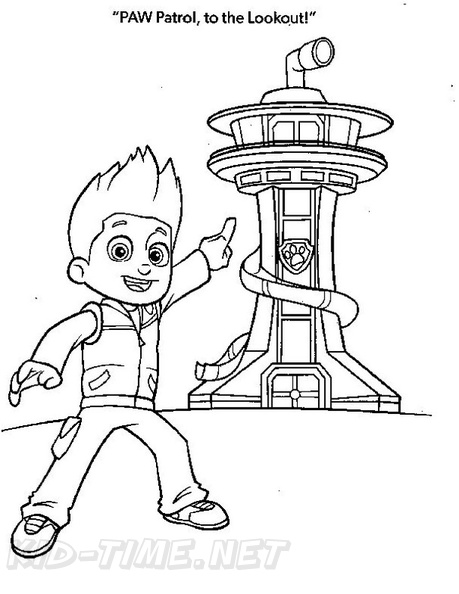 paw patrol lookout coloring page paw patrol lookout tower coloring page coloring pages patrol page lookout coloring paw
