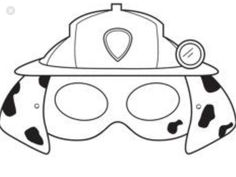 Paw patrol mask coloring pages