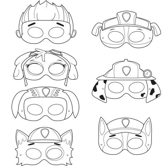 paw patrol mask coloring pages paw patrol printable mask coloring pages brielle paw coloring patrol mask pages