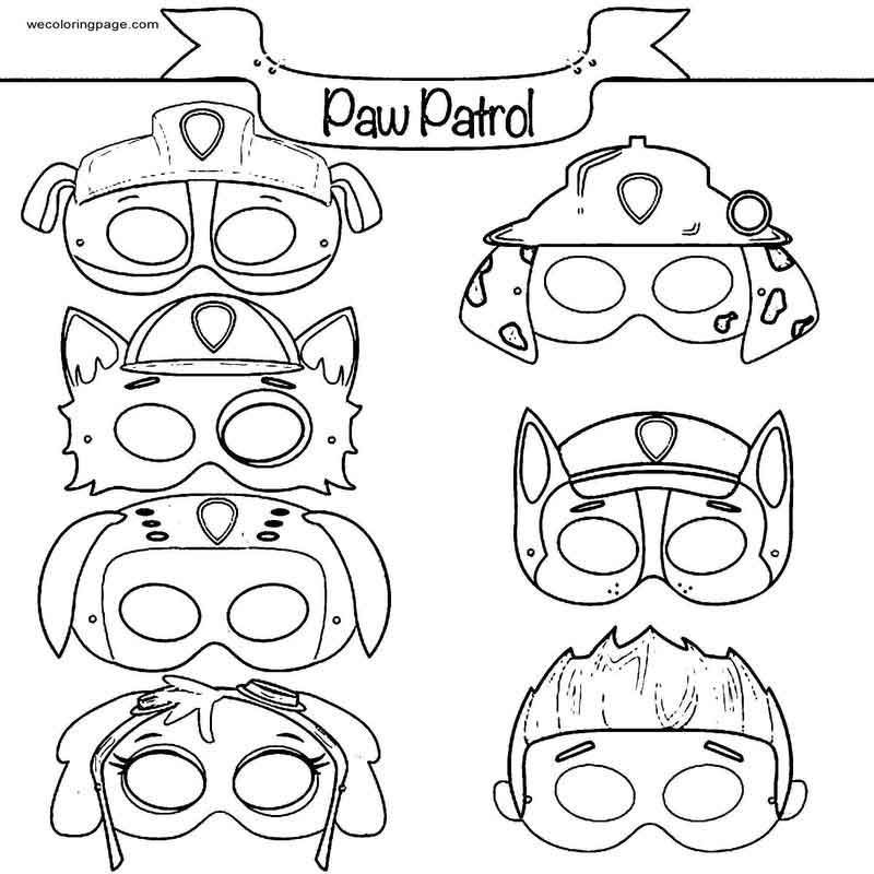 paw patrol mask coloring pages pin by vicki price on paw patrol in 2020 paw patrol coloring paw pages patrol mask
