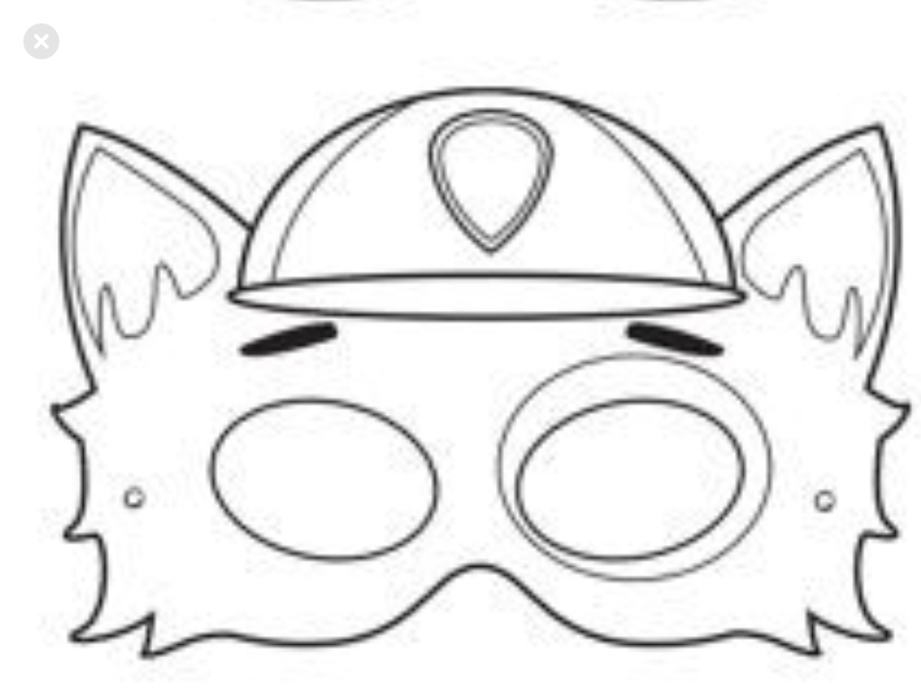 paw patrol mask coloring pages pin on pet adoption event paw coloring pages patrol mask