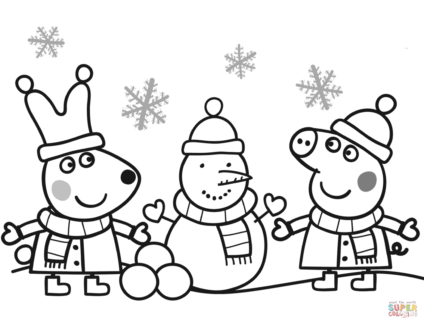 peppa pig colouring pages online peppa pig christmas coloring pages at getdrawings free online peppa pages pig colouring