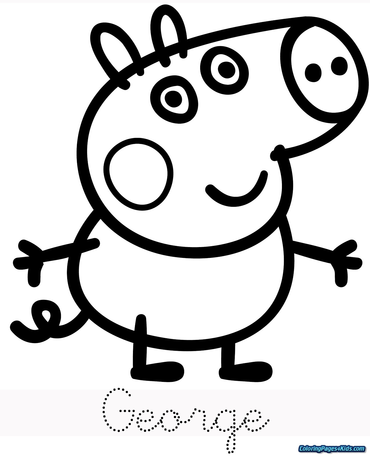 peppa pig colouring pages online peppa pig coloring pages getcoloringpagescom pig pages colouring peppa online