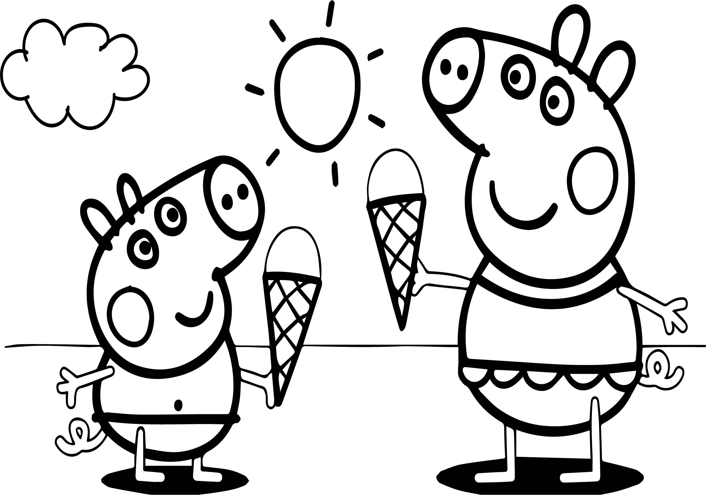 peppa pig colouring pages online peppa pig go swimming coloring page free printable pages online peppa pig colouring