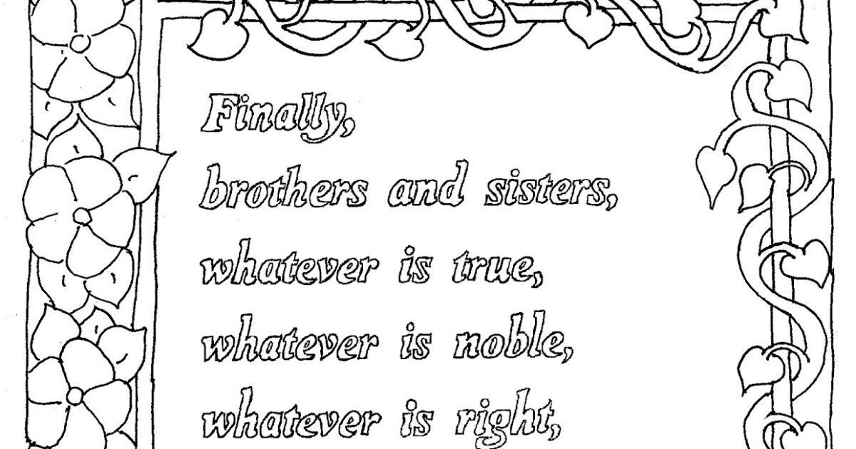 philippians 4 8 coloring page coloring pages for kids by mr adron philippians 48 philippians page coloring 8 4