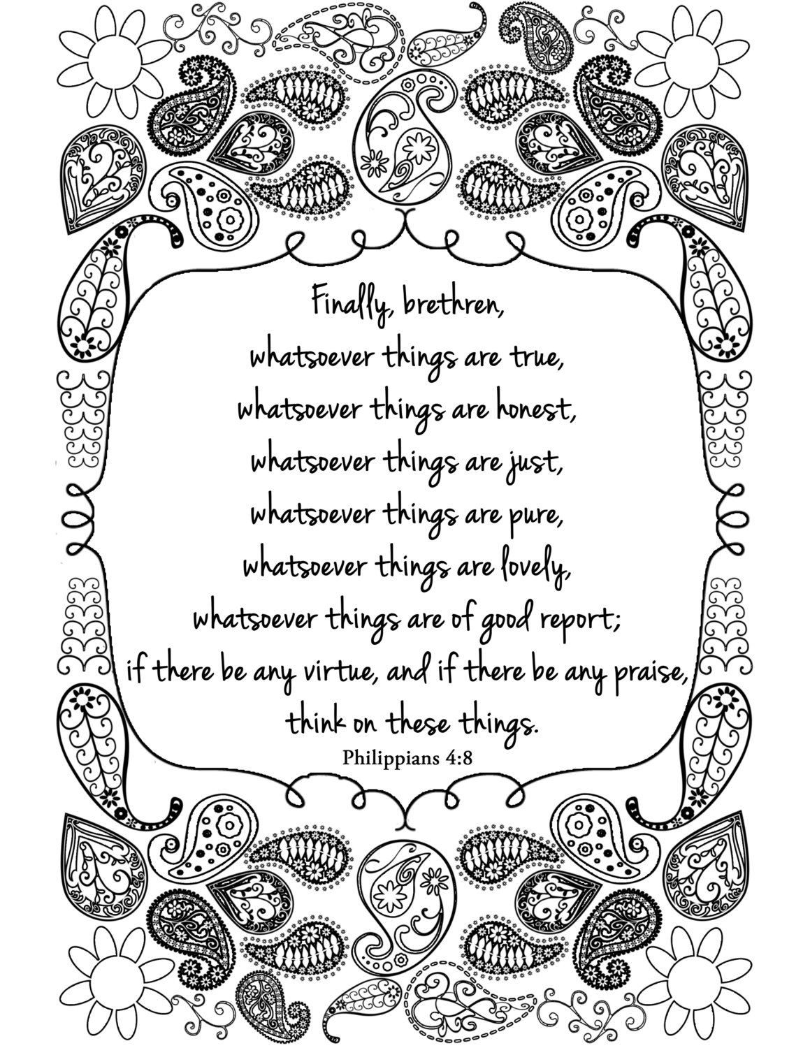 philippians 4 8 coloring page think on these things bible verse adult coloring by 8 coloring page 4 philippians