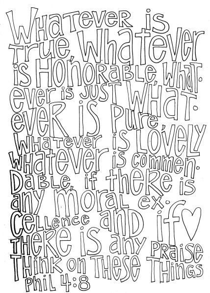 philippians 4 8 coloring page think on these things philippians 48 coloring page page philippians coloring 4 8