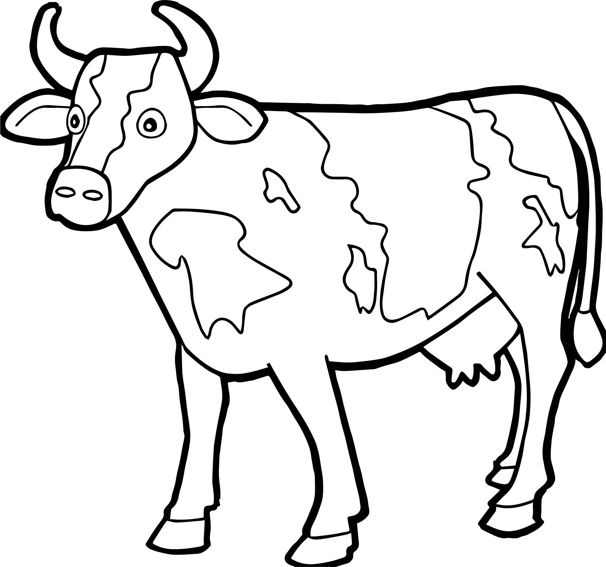 picture of a cow to colour cow coloring pages free printable coloring home a colour cow picture to of