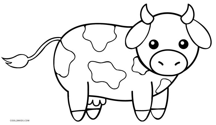 picture of a cow to colour cow template printable coloring home picture to a of cow colour