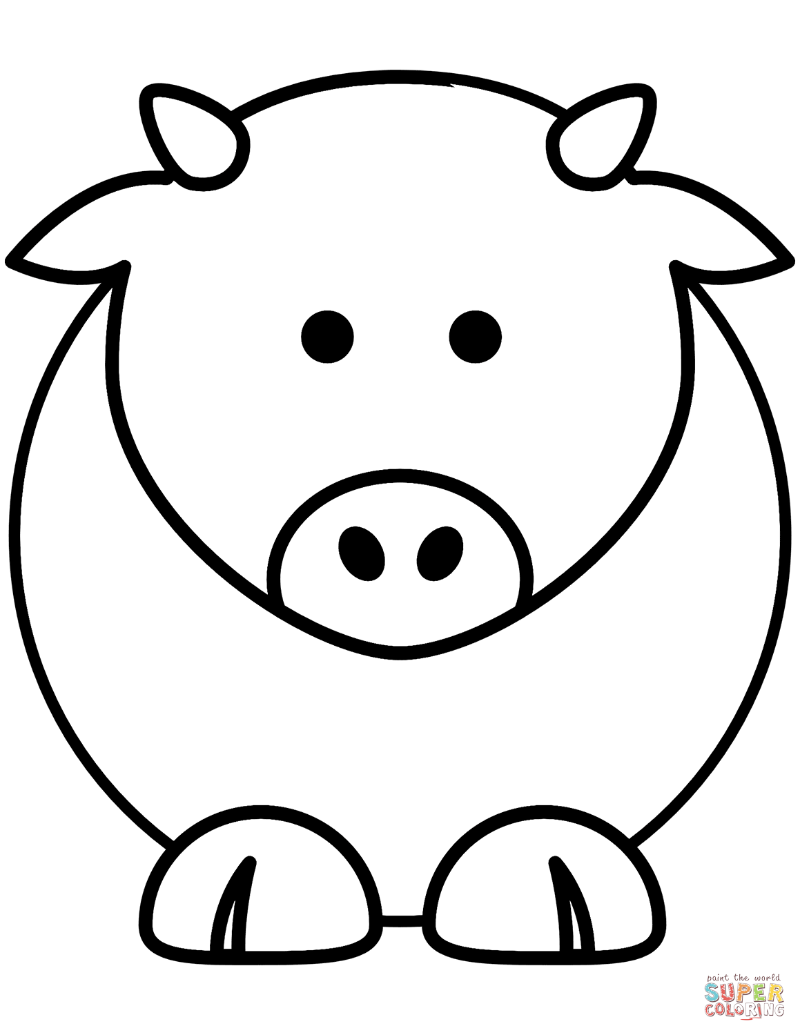 picture of a cow to colour free printable cow coloring pages for kids cool2bkids colour picture to a cow of