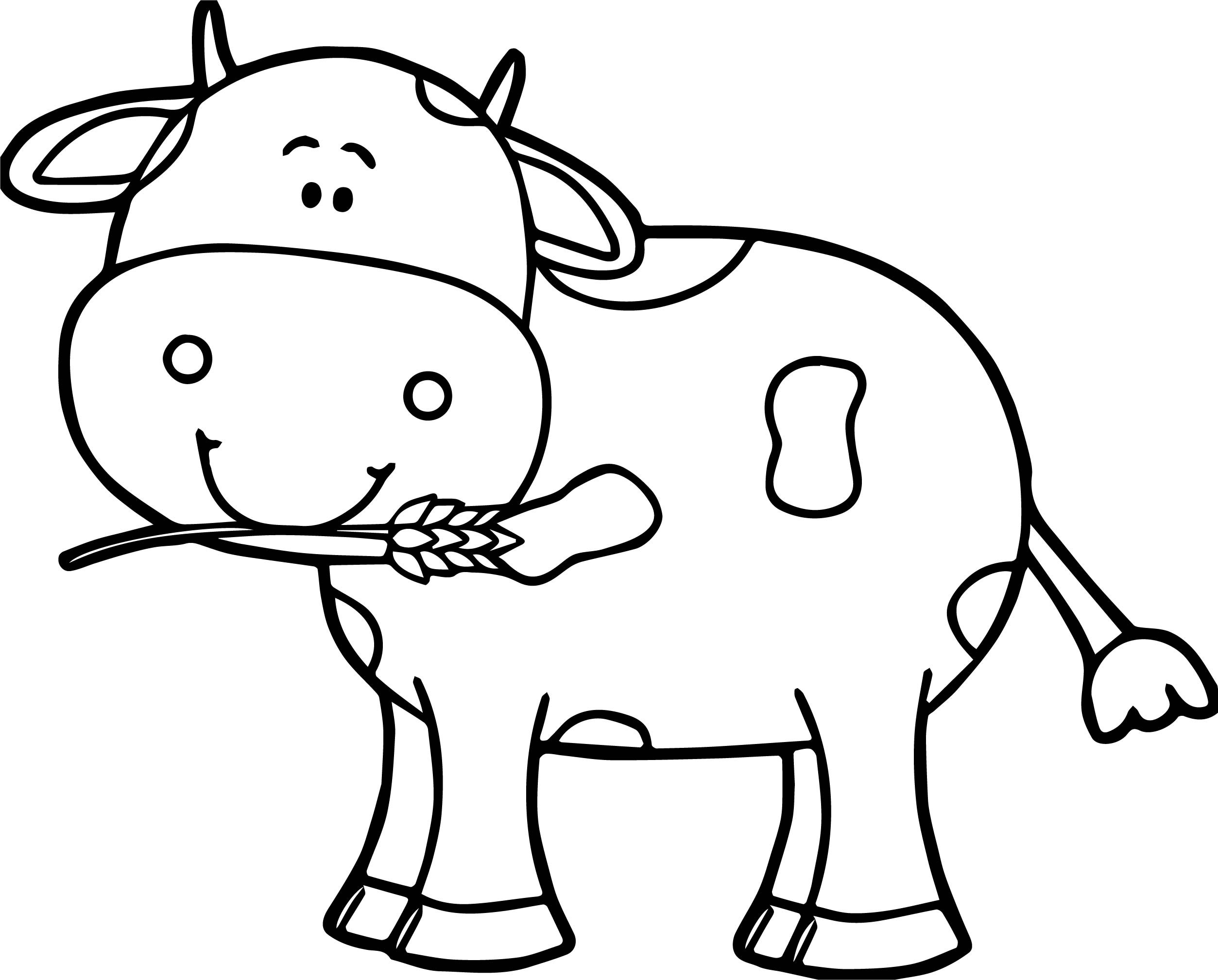 Picture of a cow to colour