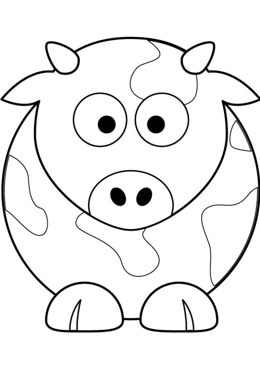 picture of a cow to colour simple cow drawing at getdrawings free download a of to picture colour cow