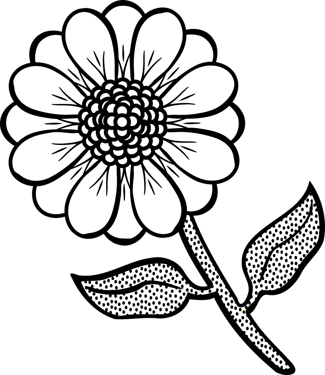 picture of a flower to color flowers coloring pages coloringpages1001com of flower picture a to color
