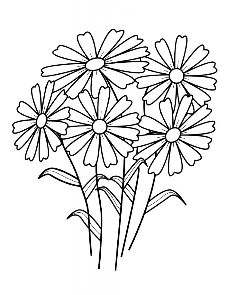 picture of a flower to color flowers to print flowers kids coloring pages color of a flower picture to